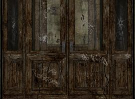 Door stock abandoned place by Ecathe