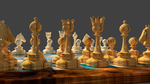 3d Chess Pieces, detail by 8DFineArt