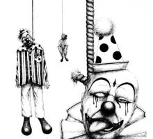 Hanging Clowns by spiffopops