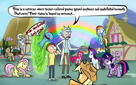 Rick and Morty visit Equestria by dan232323