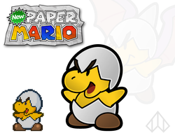 New Paper Mario: Jr. Troopa by Nelde