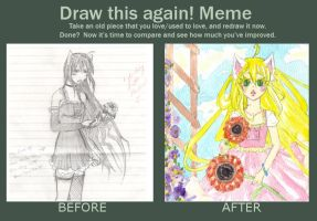 Before and After Meme:  Kitty Kat by ConnieConnConn