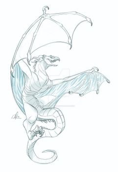 Peter the Ice Wyvern by cool-papyrus