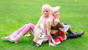 Miqo'te Lightning and Serah from FF13 LR part2 by mayuyu0405