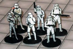 2-D paper miniatures: StormTroopers by momirfarooq