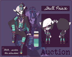 [AUCTION] OLD OC: Skull Prince [S] by Princeux