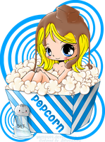 Popcorn Girl by Bliood-Kira