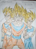 Goku, Vegeta and Gohan by HotIceHilda2011