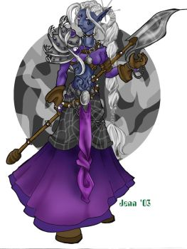 Jhaelwyn, Drow Fighter by minimonster777