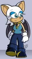 Rouge the Bat Fleetway Style by zonefox
