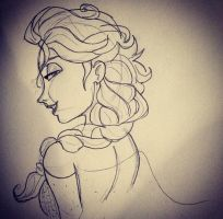 (Another) Elsa Sketch by MelodicSkies