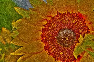 Sunflower - Paintography by dynamick