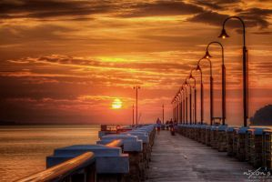 Sunrise of Jerejak Jetty, Penang by fighteden