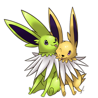 Jolteon Couple by lilly-gerbil
