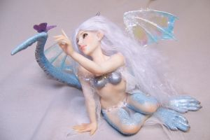 Blue Ice Dragon Fairy by AmandaKathryn