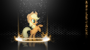 [Flame Ring Series] - Applejack 1920x1080 by forgotten5p1rit