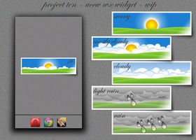 project ten - uccw wx widget - work in progress by peterpeneff