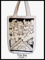 Doodle Bats on Tote Bag by azahGTA