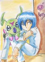 Very old stuff_Ken and Wormon by kotori-chan