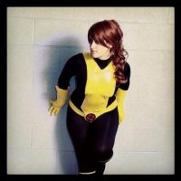 Shadowcat phasing through the wall by St3phBot