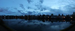 Another Panorama of the backyard. by mrwho103