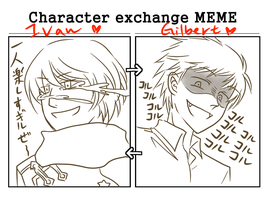 MEME: Character Exchange by starshine1313