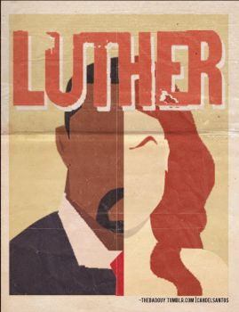 minimalist bbc luther by cahdelsantos