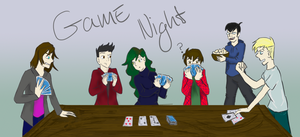 Game night by VictoriaCrossburn