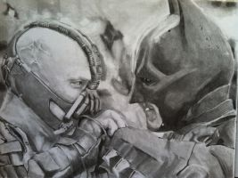 batman and bane by kwm0304