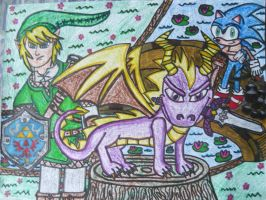 Welcome To Hyrule Spyro And Sonic by KambalPinoy