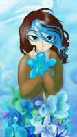 blue orchid by mountainlaurelarts