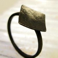 Forged Gothic SS Ring by che4u