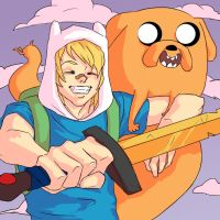 Finn and Jake by LoadOfBarnicles
