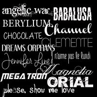 Fonts Pack #1 by LCBuenfil