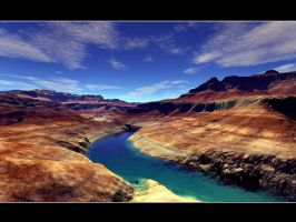 Terragen - The Grand Canyon by CrAzYmOnKeY
