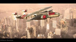 B 25 XXY Dieselpunk Special by RomanticGoth
