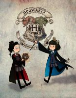 Mel and Britt - Pottermore by RainOwls
