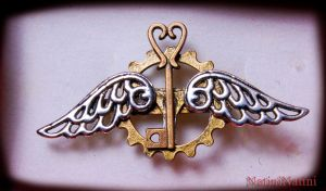Steampunk charm by Natini