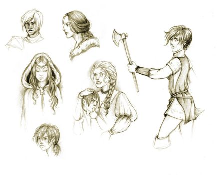 Song of Ice and Fire sketches by Marinelli
