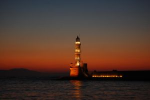 Chania lighthouse by patratica