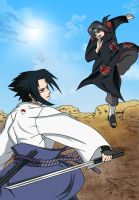 Sasuke Vs Itachi by TheGameJC
