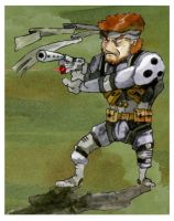 SHOW TIME: Solid Snake cartoon by FallenAngelOmega