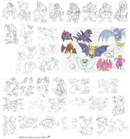My Fakemon - Concept Compilation by ManiacalMew
