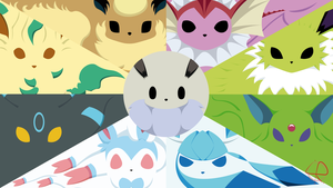 Eeveelution Shiny - Almost Minimalist Wallpaper by LeoRenahy