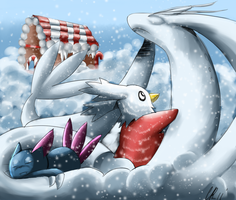 Snow Milotic by Phatmon66