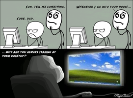 Desktop (Rage Comic 30) by 1RageComic1