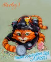 Puss in Boots New Cake by 6eki