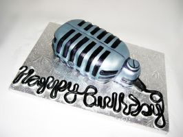 Retro Microphone Cake by TiffsWickedCakes