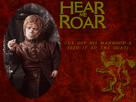 Goofing Off - Tyrion Lannister Wallapaper by blackhavikgraphics