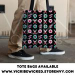 Eyeball and Pills Tote bag by VickiBeWicked